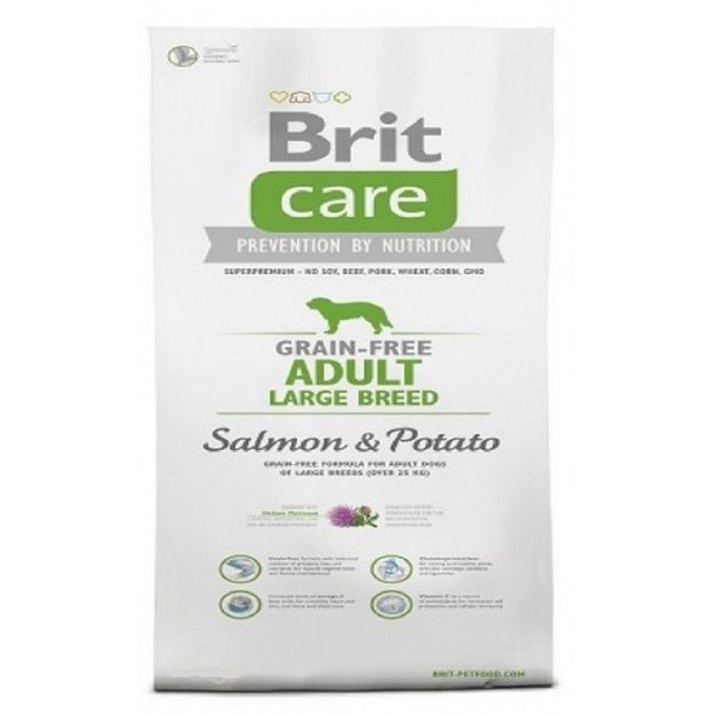 Brit care 1kg Adult Grain-free LB Salmon+Potato