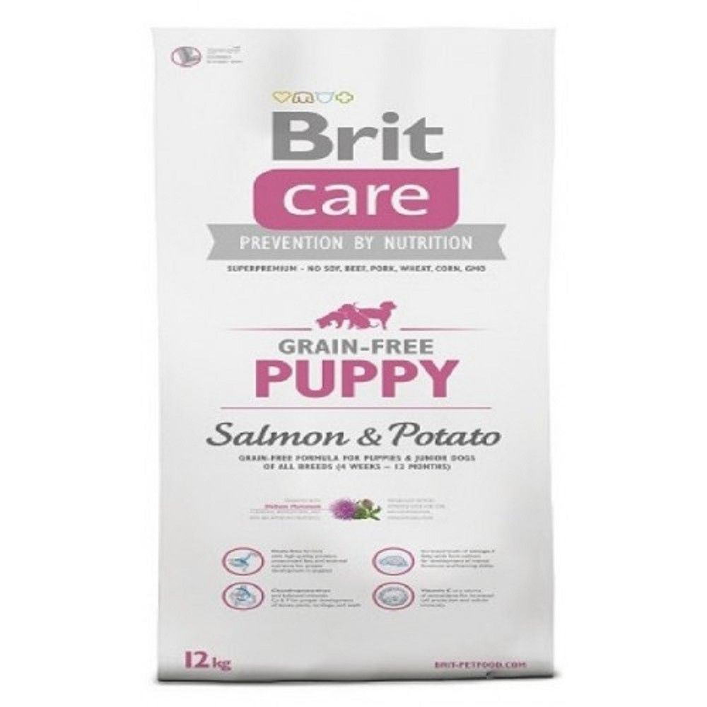 Brit care 1kg Grain-free puppy Salmon+Potato