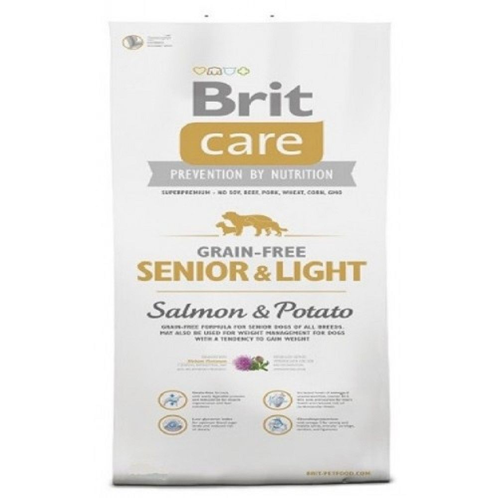 Brit care 1kg Grain-free senior light Salmon+Potato