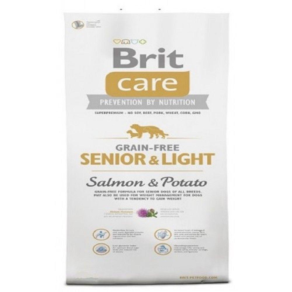 Brit care 12kg Senior light Salmon+Potato grain-free