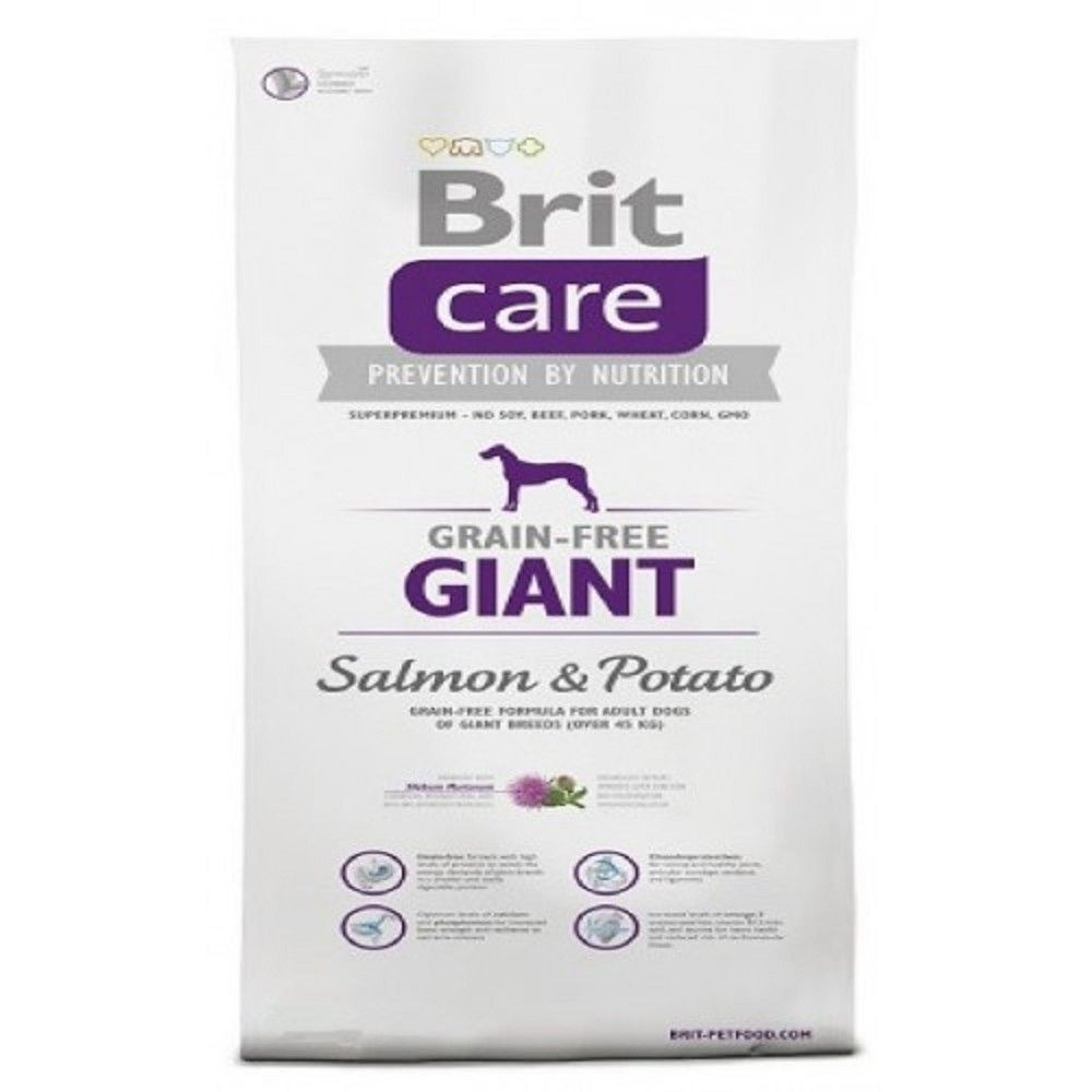 Brit care 3kg Adult Giant Salmon+Potato grain-free