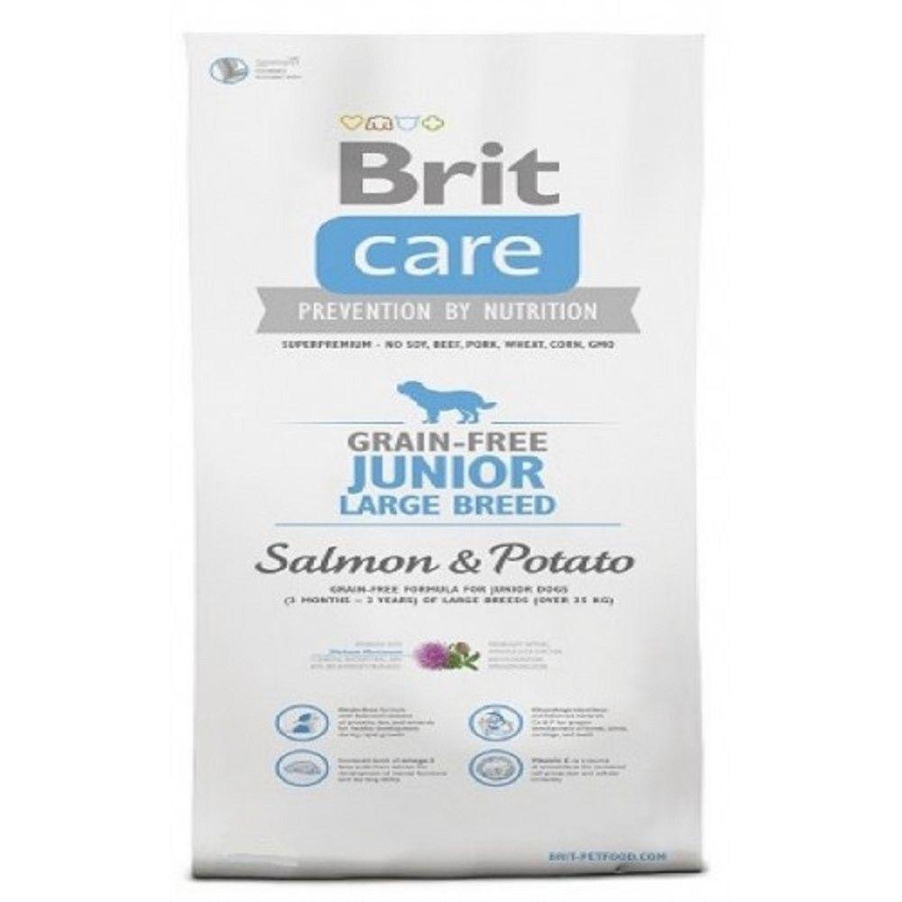 Brit care 3kg Junior LB grain free salmon potato
