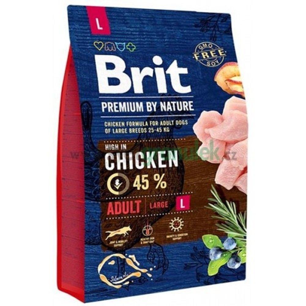 Brit 3kg premium Nature adult L