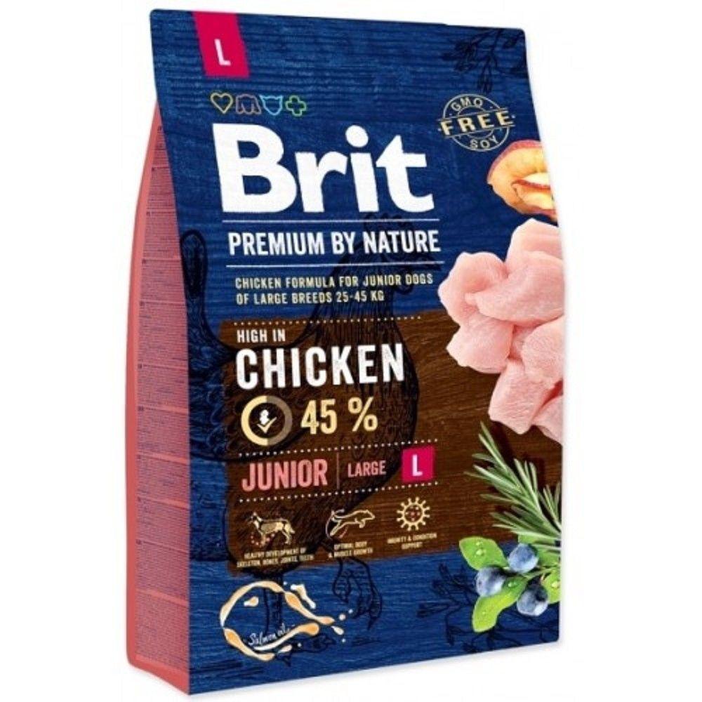 Brit 3kg premium Nature junior L