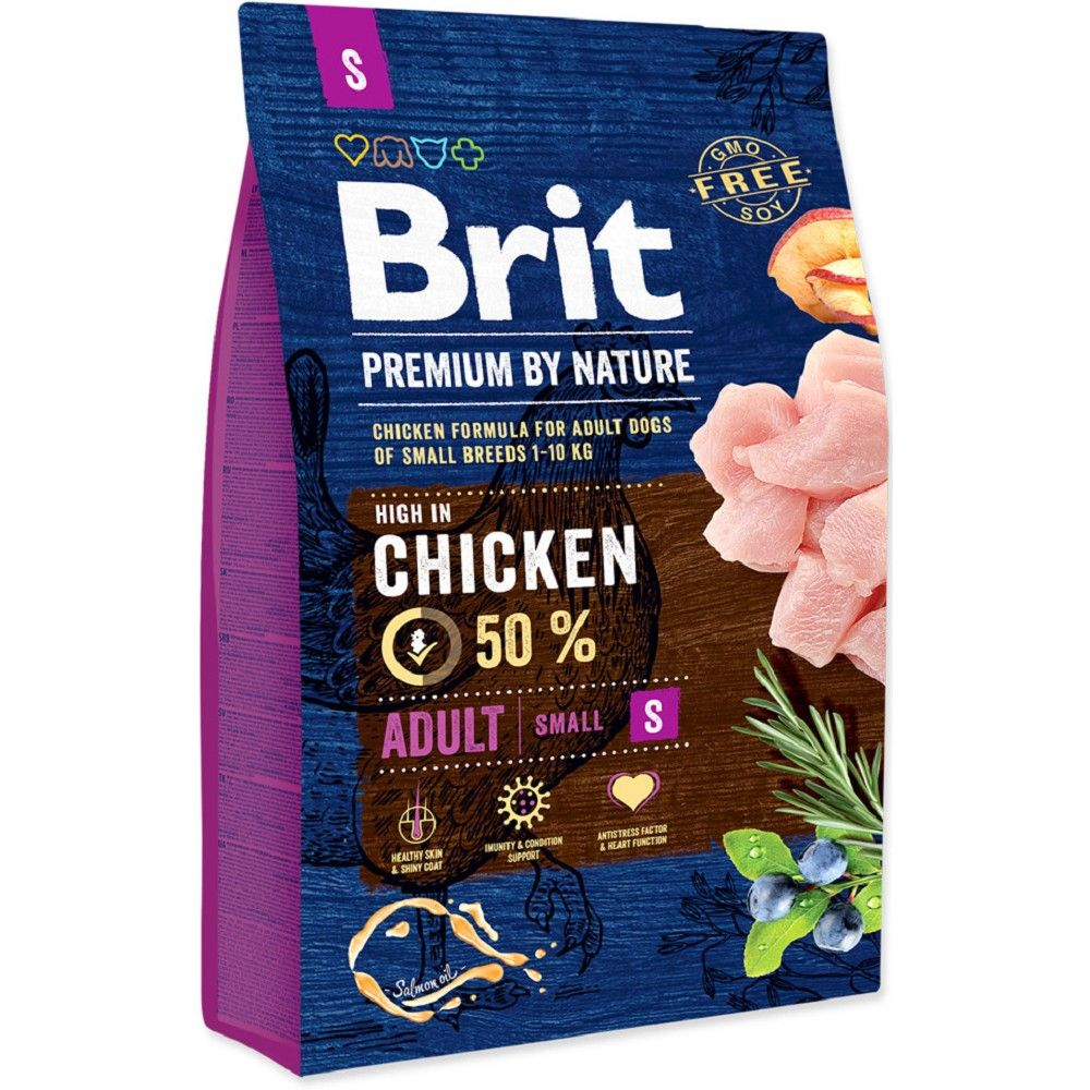 Brit 3kg premium Nature Adult S