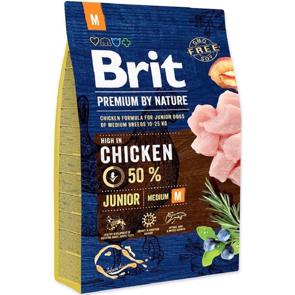 Brit 3kg premium Nature Junior M