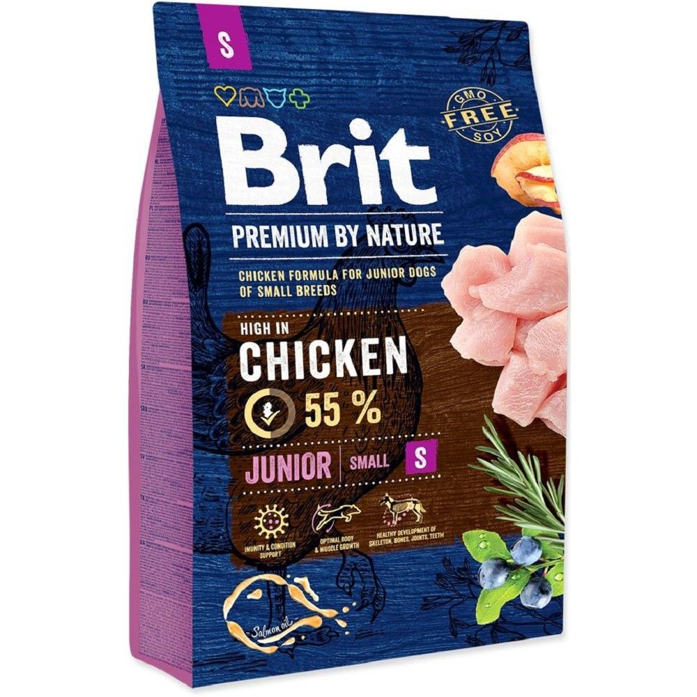 Brit 3kg premium Nature Junior S