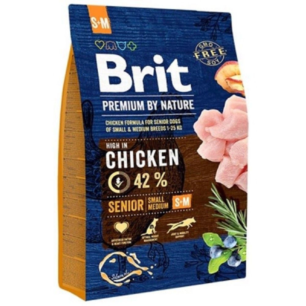 Brit 3kg premium Nature Senior S/M