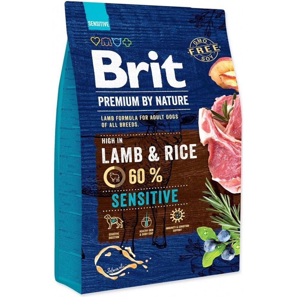 Brit 3kg premium Nature Sensitive Lamb+Rice
