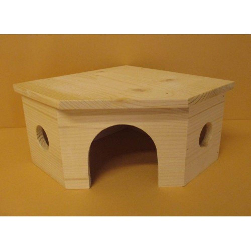 Domek králík rohový obr dřev.přír. Ostatní