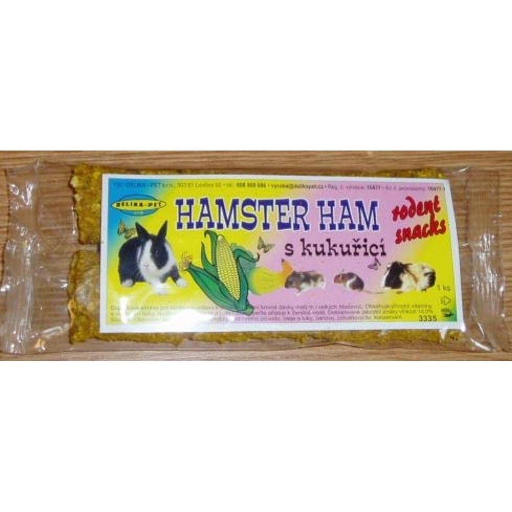 Hamster Ham s kukuřicí pro hlod.2ks Ostatní