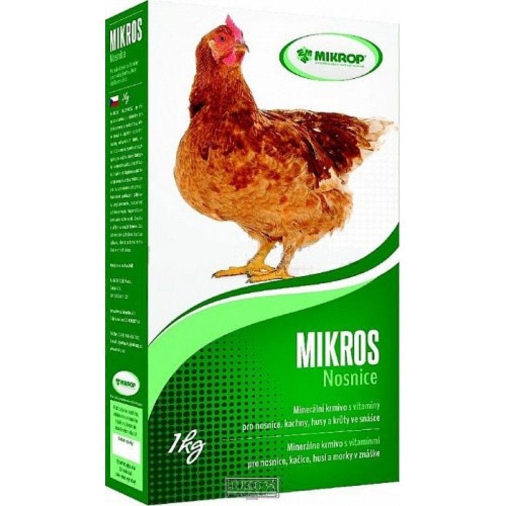 Mikros 1kg minerál s vitamíny pro nosnice-krabice Ostatní
