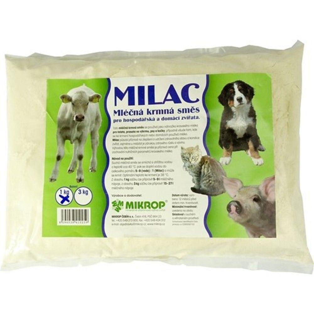 Milac 1kg,mléčná krmná směs pro hospodářská a domácí zvířata Ostatní