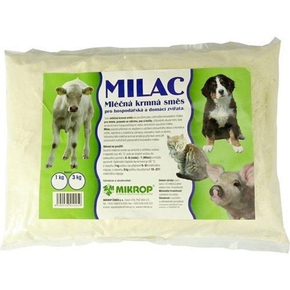 Milac 3kg,mléčná krmná směs pro hospodářská a domácí zvířata Ostatní