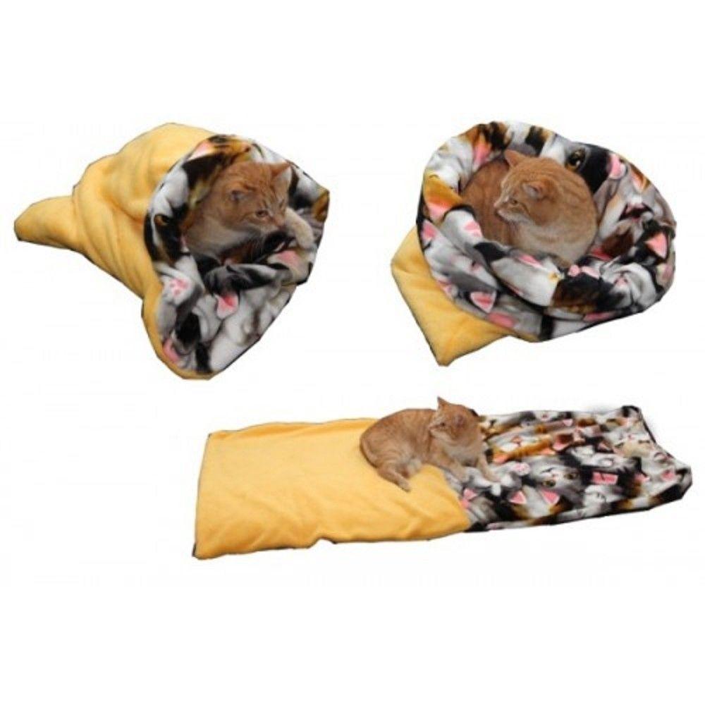 Spací pytel pro kočky XL-žlutá/kočka Ostatní