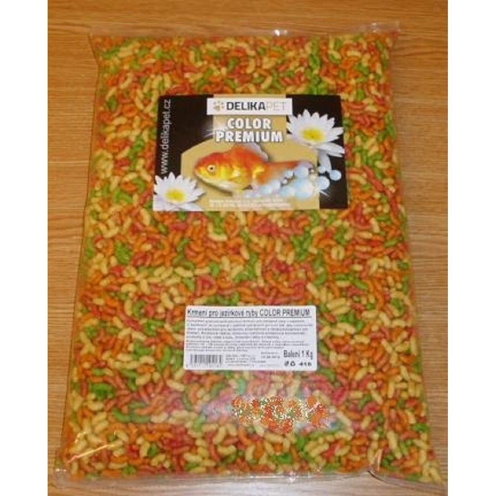 Krmivo-jezír.ryby color premium 1kg Ostatní