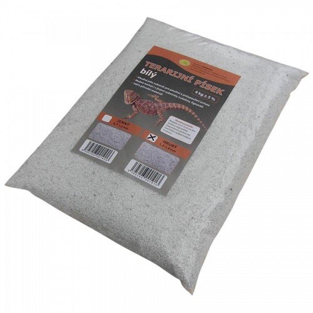 Terarijní písek bílý 4kg hrubý Robimaus Ostatní