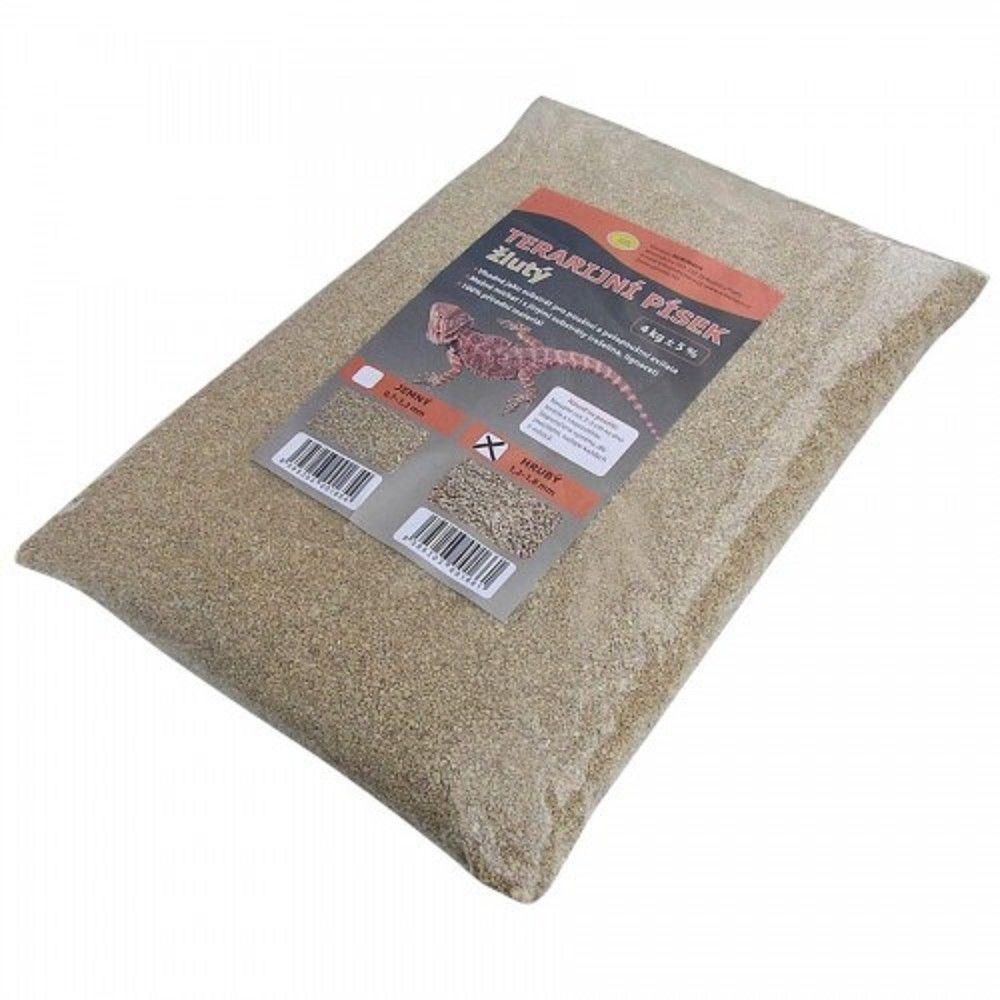 Terarijní písek žlutý 4kg hrubý Robimaus Ostatní