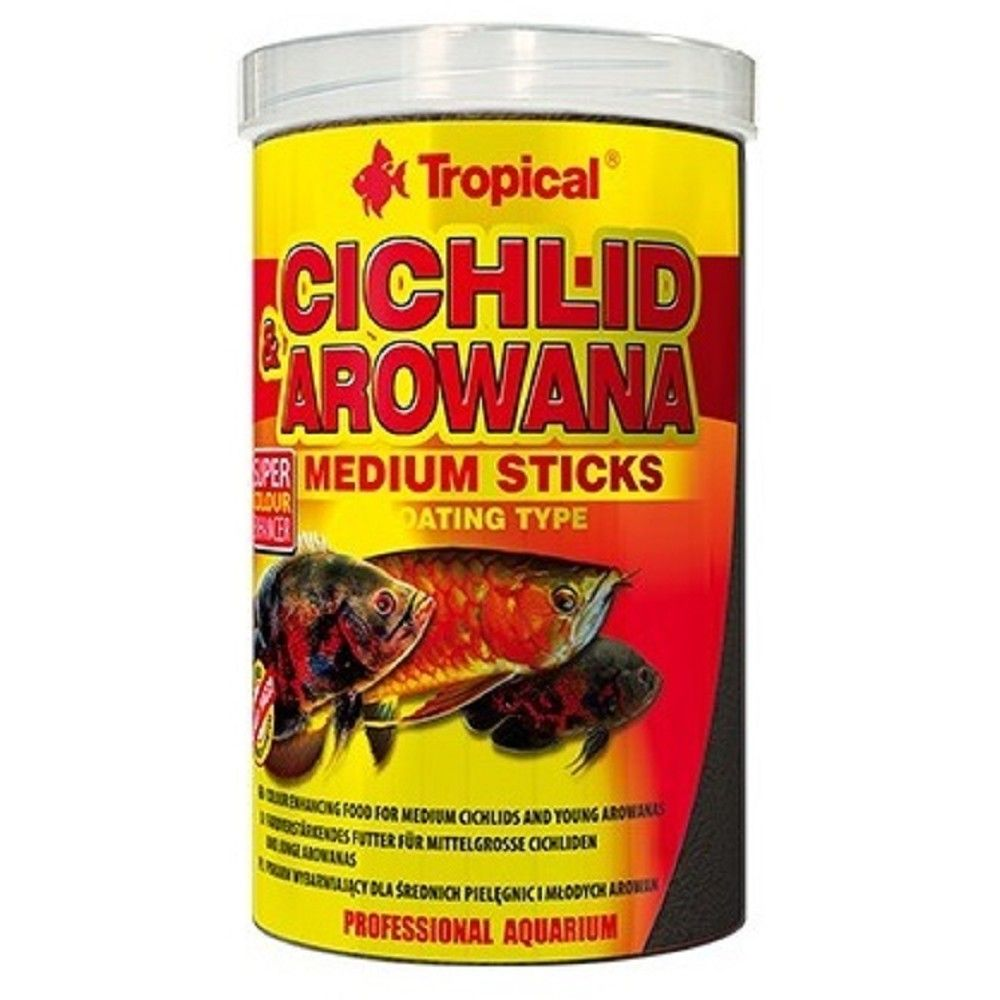 Tropical Cichlid+Arowana 1000ml medium stick Ostatní