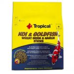 Tropical Koi-Goldfish Weat Germ&Garlic Sticks Wor.1000ml