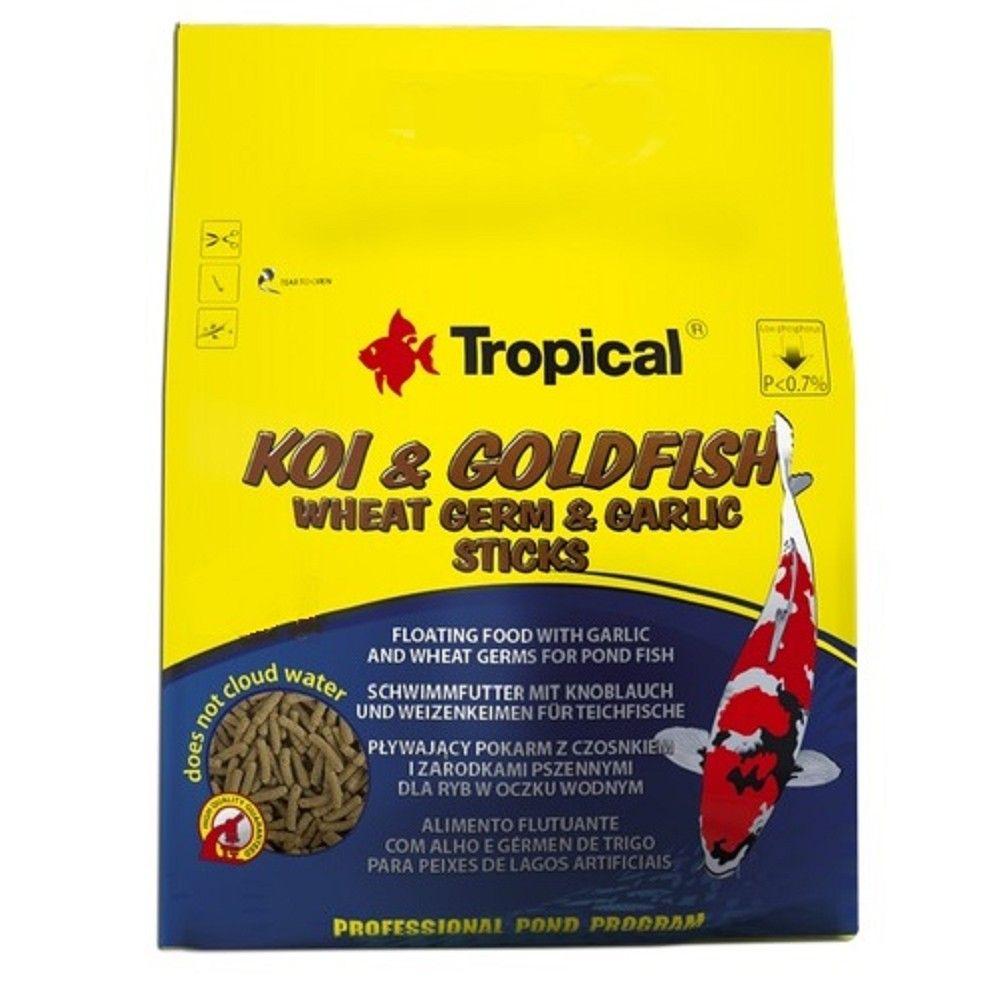 Tropical Koi-Goldfish Weat Germ&Garlic Sticks Wor.1000ml Ostatní