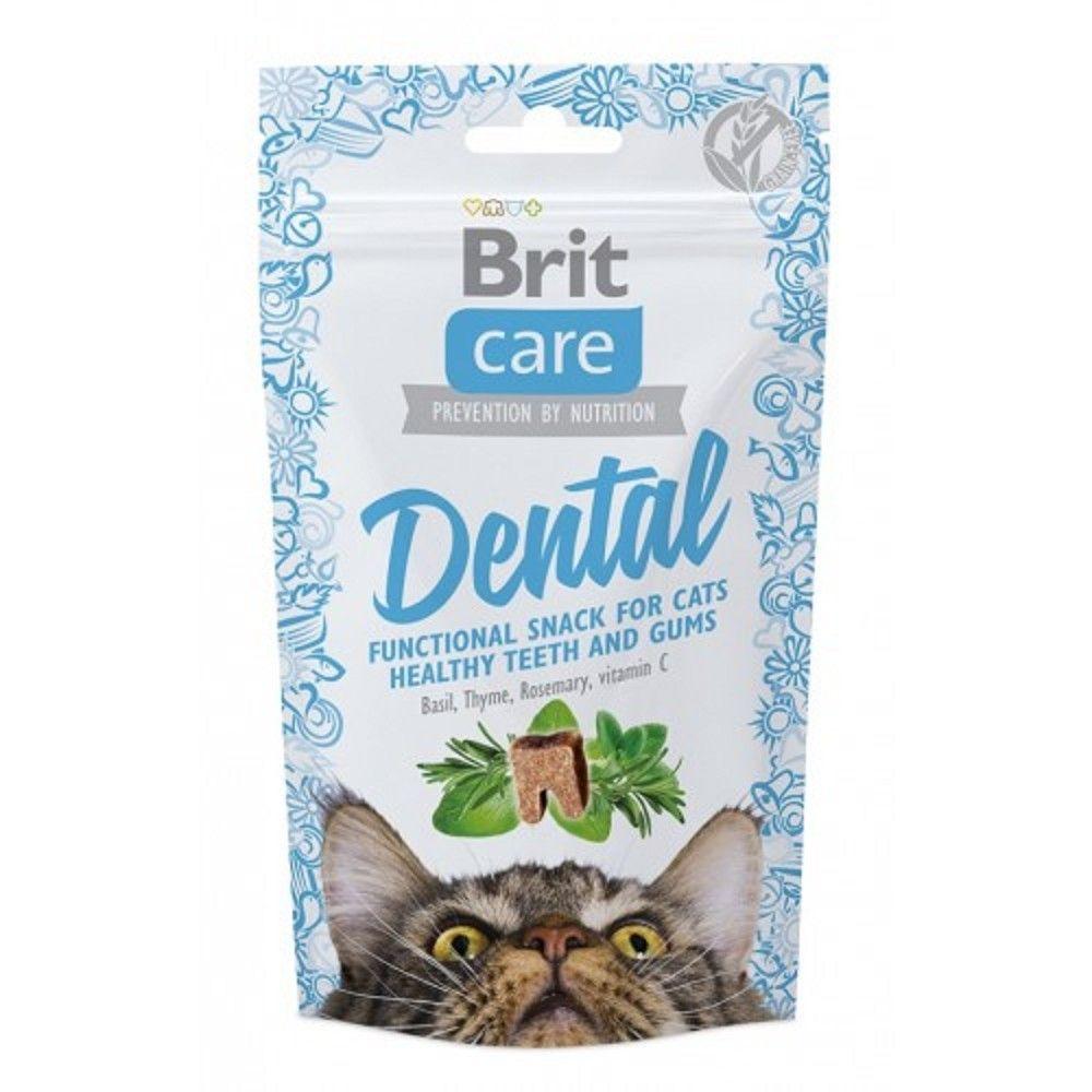 Brit care cat snack Dental 50g 1ks