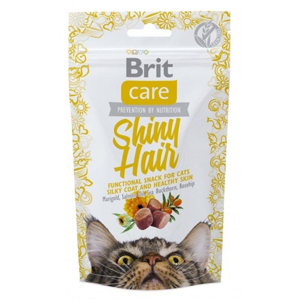 Brit care cat snack Shiny Hair 50g 1ks
