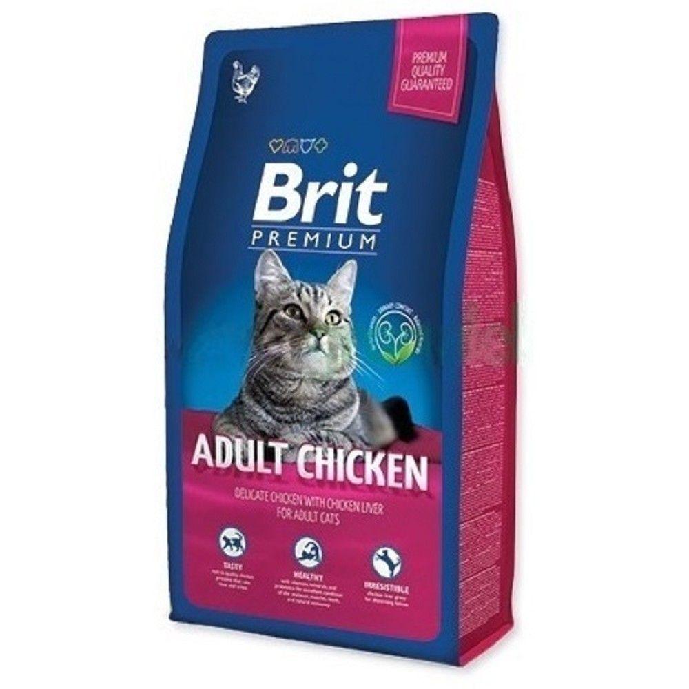 Brit premium 0,3kg cat Adult kuře