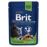 Brit premium 100g cat kaps.chicken sterilized 1ks