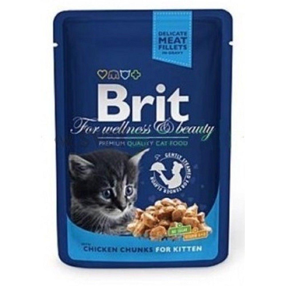 Brit premium 100g kitten kaps.chicken v omáčce 1ks
