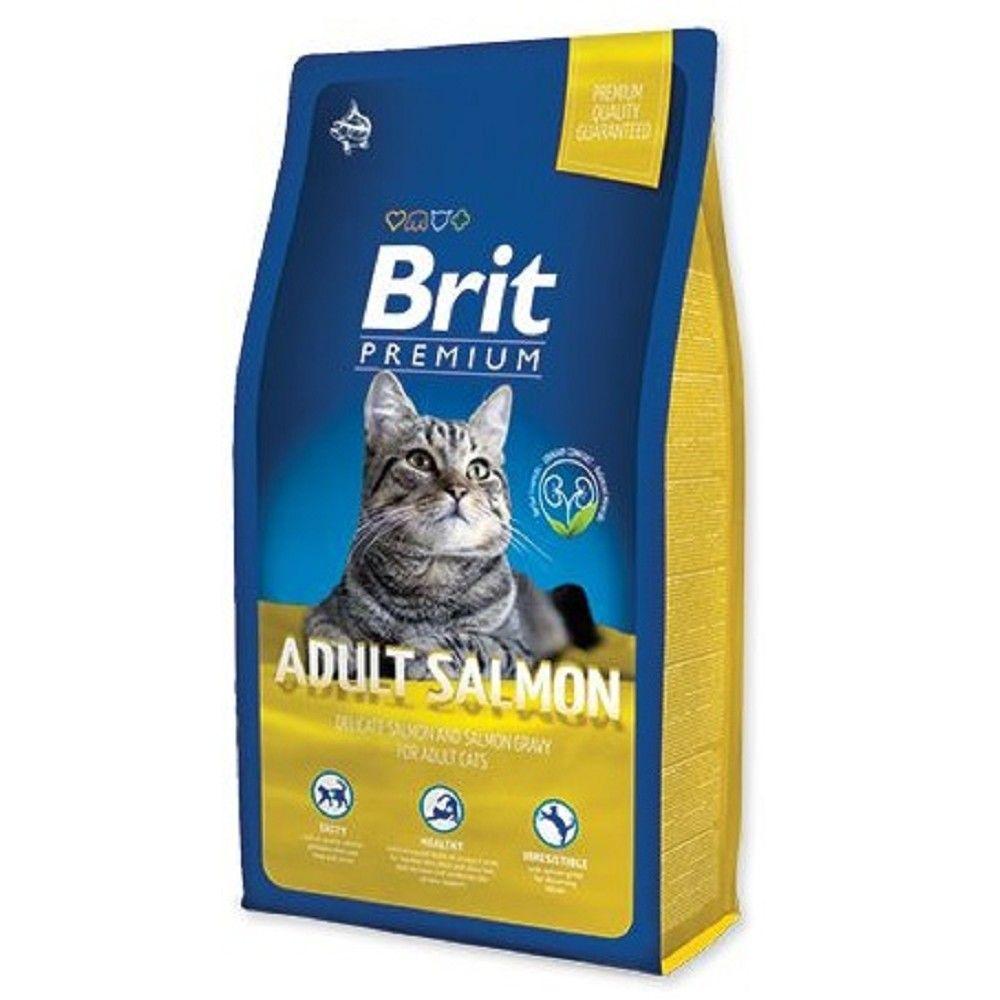 Brit premium 8,0kg cat Adult salmon