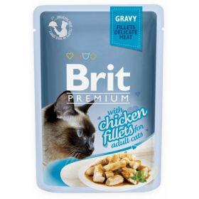 Brit premium 85g cat kaps.filety s kuřecím ve šťávě  1ks