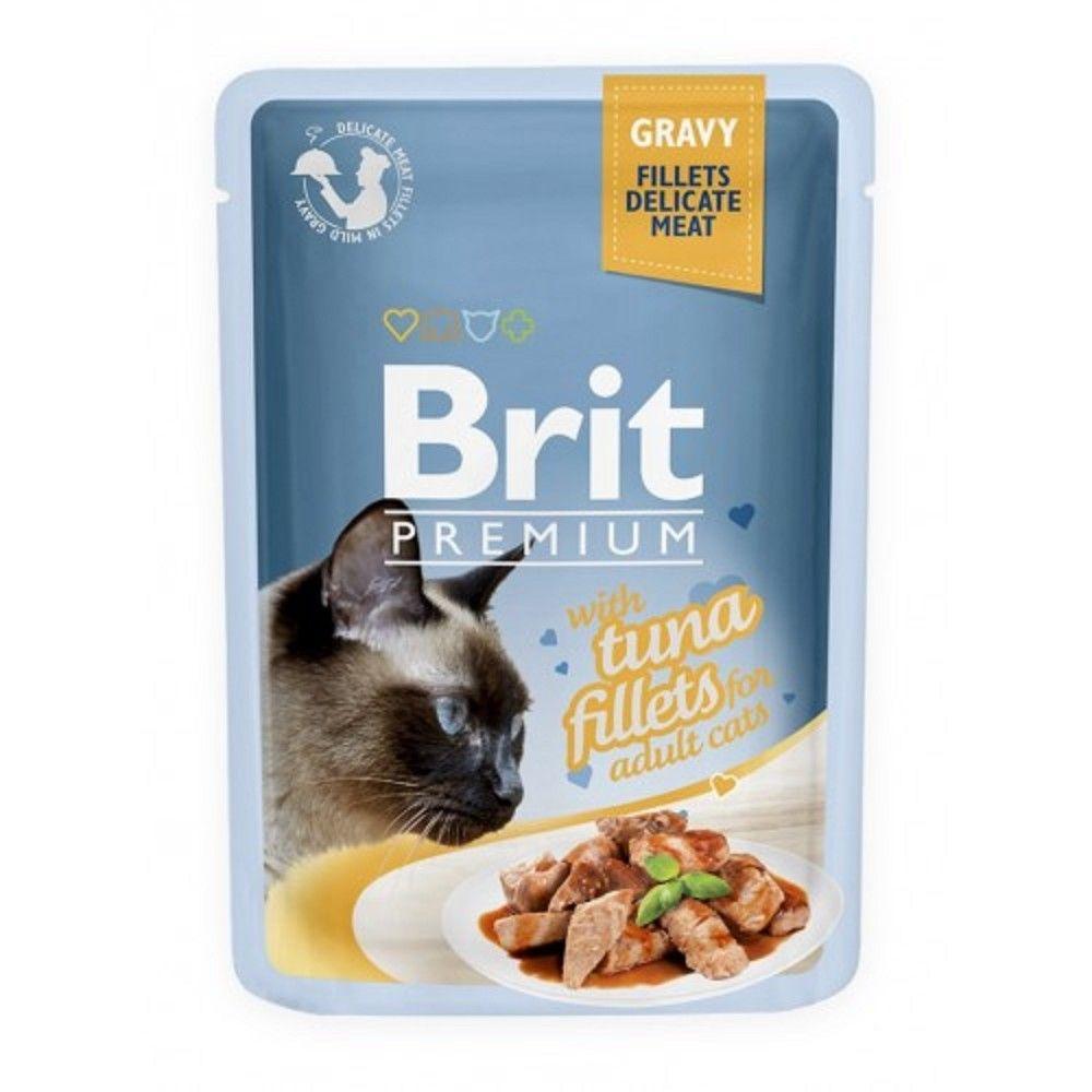 Brit premium 85g cat kaps.filety s tuňákem ve šťávě 1ks