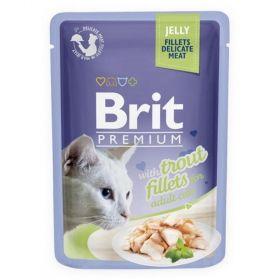 Brit premium 85g cat kaps.filety se pstruhem v želé 1ks