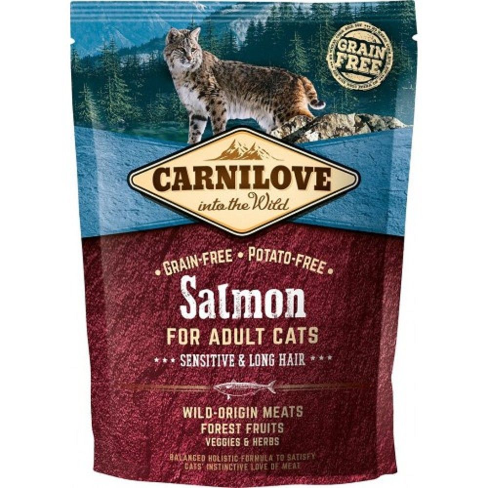 Carnilove 0,4kg Sensit.Salmon Long Hair adult cats