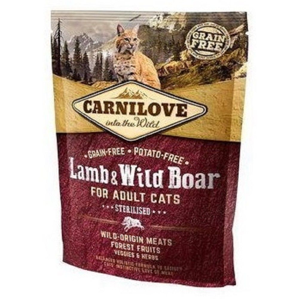Carnilove 0,4kg Steril.Lamb Wild Boar for adult cats