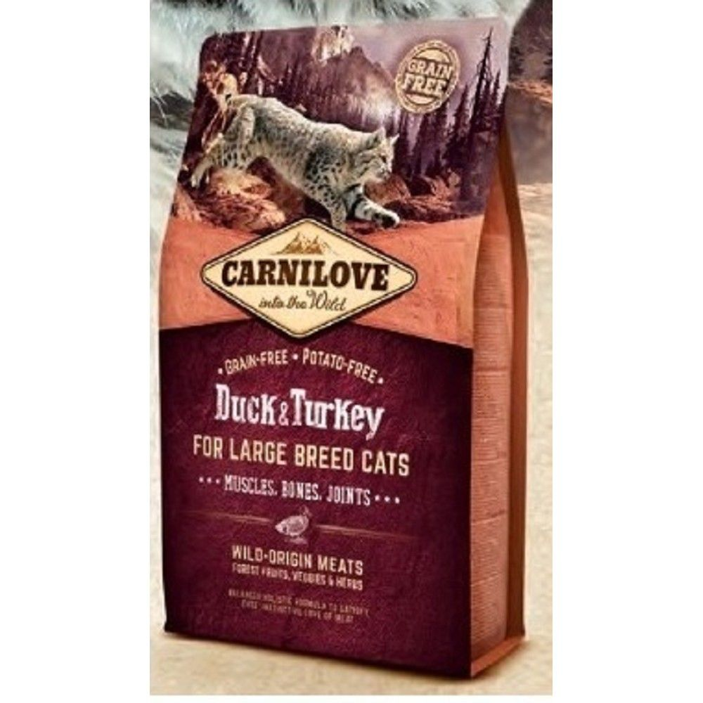 Carnilove 6kg Duck+Turkey adult LB cats