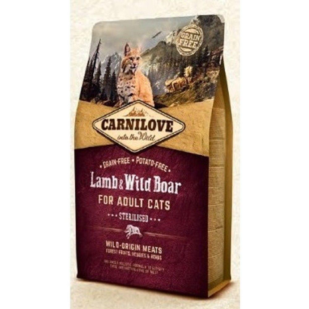 Carnilove 6kg Steril.Lamb+Wild Boar adult cats