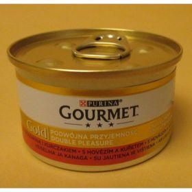 Gourmet  85g gold hovězí+kuře