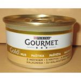 Gourmet  85g gold paštika krůta cat