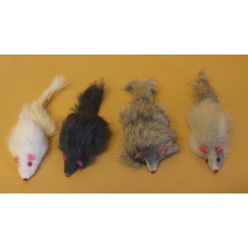 Myš chlupatá 6,3cm 4ks/bal. Ostatní