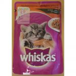 Whiskas 100g kaps.junior hovězí cat