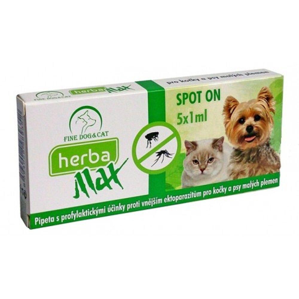 Herba Max spot on dog+cat 5x1ml Ostatní