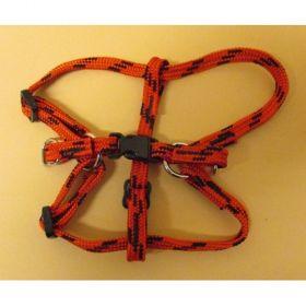 Postroj nylon č.1/1,0cm-červeno-černý