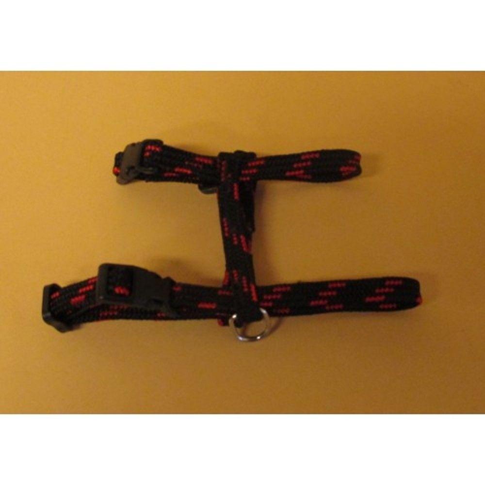 Postroj nylon o.k.28/o.h.38cm černo-červený Ostatní