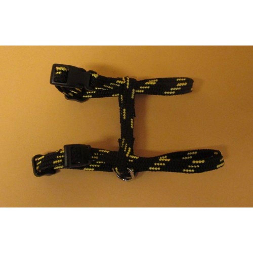 Postroj nylon o.k.28/o.h.38cm černo-žlutý Ostatní