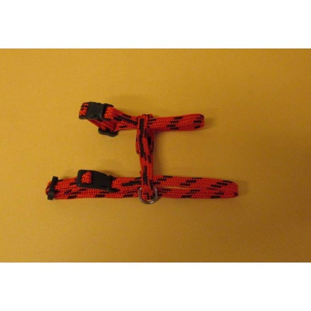 Postroj nylon o.k.28/o.h.38cm červeno-černý Ostatní
