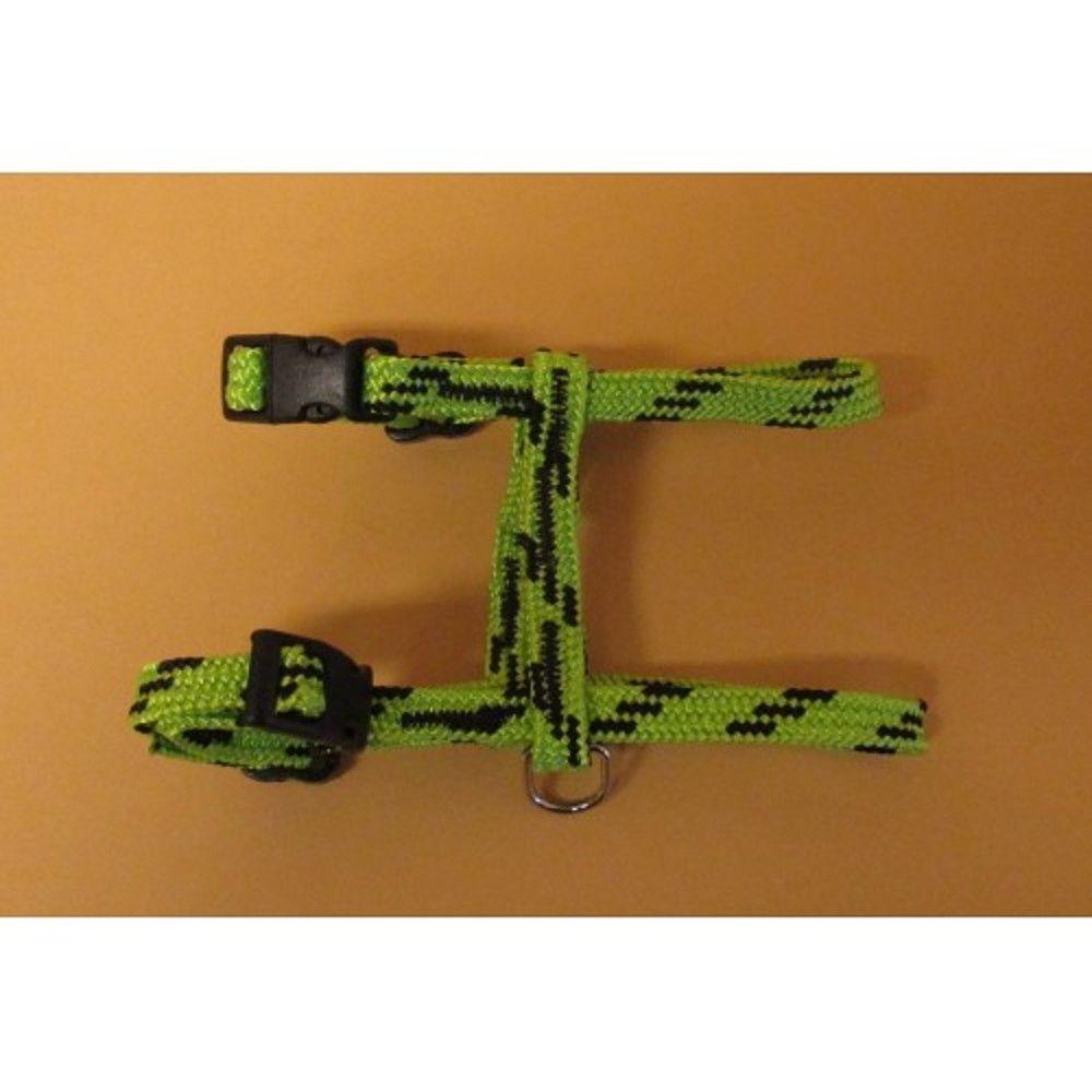 Postroj nylon o.k.28/o.h.38cm zeleno-černý Ostatní