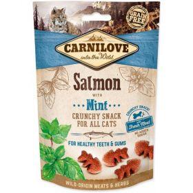 Carnilove Cat pamlsek 50g z lososa s divokou mátou na zuby a dásně