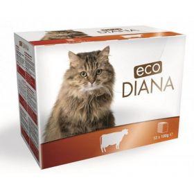 Eco Diana 100gx kaps.cat hovězí kousky v omáčce